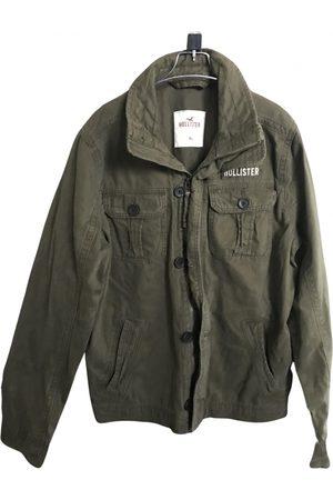 Hollister Khaki Cotton Jackets