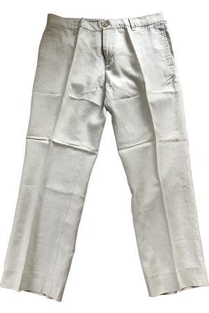 Kenneth Cole Ecru Linen Trousers
