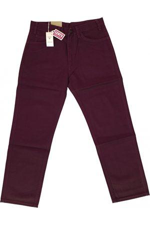Levi's Burgundy Cotton Jeans