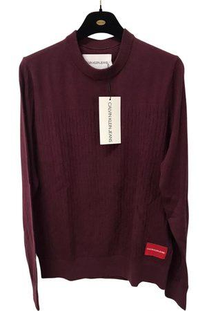 Calvin Klein Burgundy Cotton Knitwear & Sweatshirts
