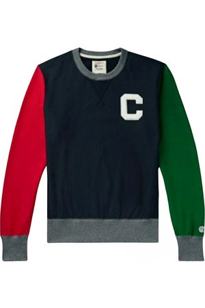 Champion Men Sweatshirts - Navy Cotton Knitwear & Sweatshirts