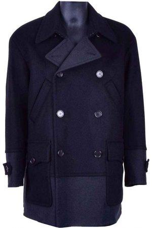 Dolce & Gabbana Navy Wool Coats