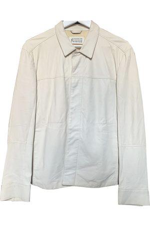 Maison Martin Margiela Ecru Leather Jackets