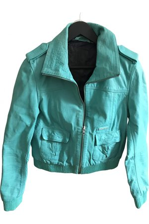 Superdry Turquoise Leather Jackets