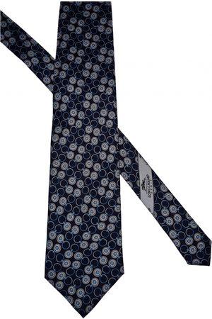 Longchamp Navy Silk Ties