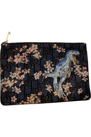 Dior Navy Cotton Small Bags, Wallets & Cases