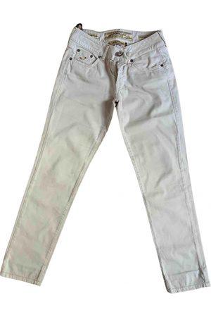 Joseph Ecru Cotton Trousers