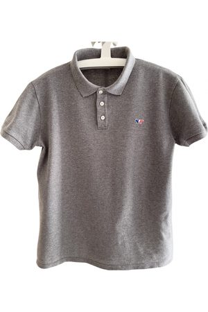 Maison Kitsuné Grey Cotton Polo Shirts