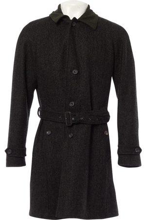 Hardy Amies Khaki Wool Coats
