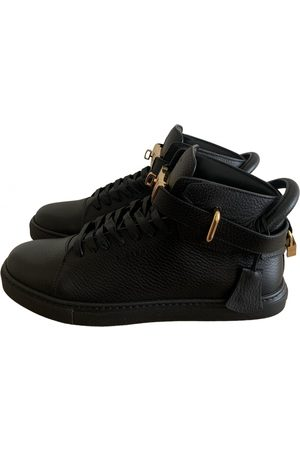 BUSCEMI Leather high trainers