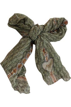 Dior Khaki Silk Scarves