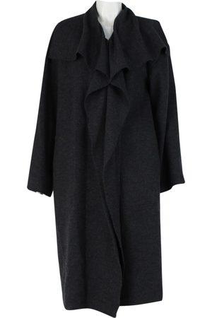 Lanvin Grey Wool Trench Coats