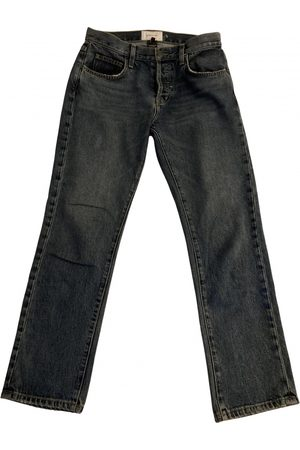 Current/Elliott Navy Cotton Jeans