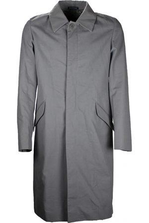 Agnès B. Men Coats - Grey Cotton Coats