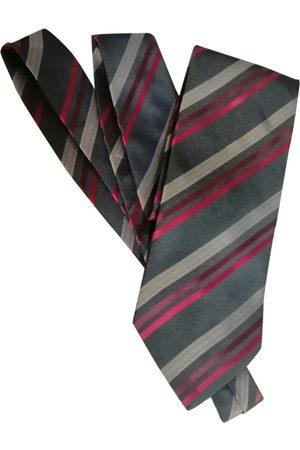 Oscar de la Renta Men Neckties - Grey Silk Ties