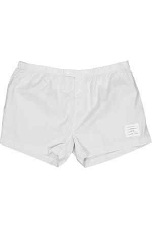 Thom Browne Grey Cotton Shorts