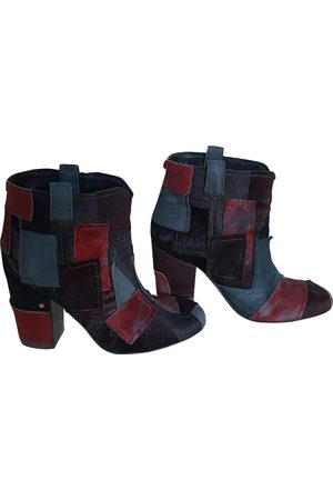 LAURENCE DACADE Multicolour Pony-style calfskin Ankle Boots
