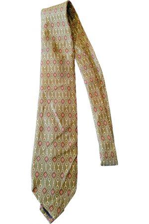 LANCEL Men Neckties - Khaki Silk Ties