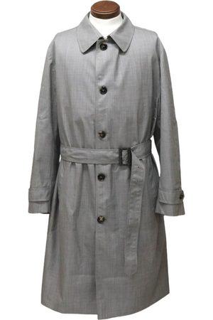 BRIONI Grey Wool Coats