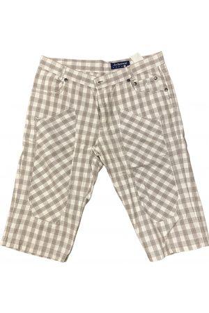 Jeckerson Ecru Cotton Shorts