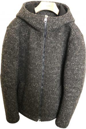 Uptobe Men Sweatshirts - Grey Polyester Knitwear & Sweatshirts