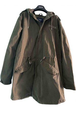 Pull&Bear Khaki Cotton Jackets