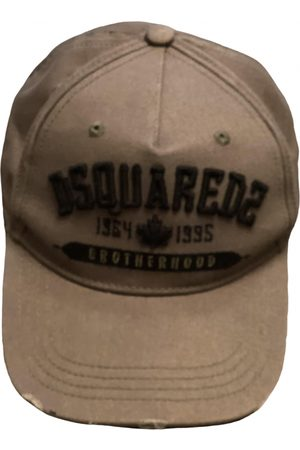 Dsquared2 Khaki Cotton Hats & Pull ON Hats