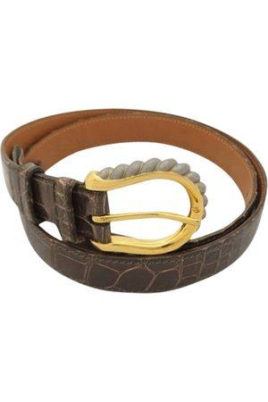 Hermès Grey Crocodile Belts
