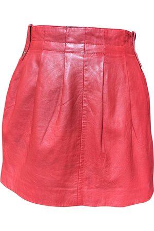 Cuplé Leather mini skirt