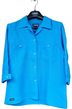 Ciesse Turquoise Linen Tops