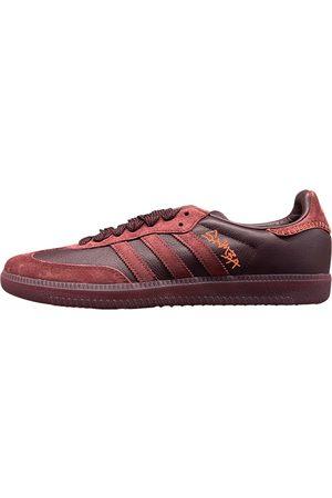 adidas Burgundy Leather Trainers