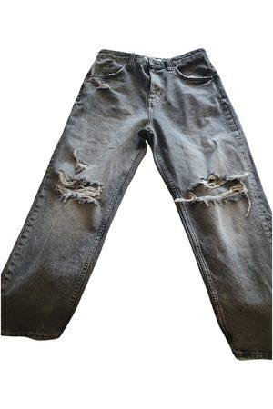 Bershka Grey Cotton Jeans
