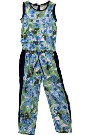 Stefanel Turquoise Silk Jumpsuits