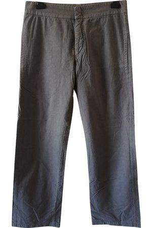 Costume National Grey Cotton Trousers
