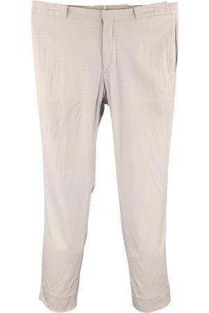 Miu Miu Grey Cotton Trousers
