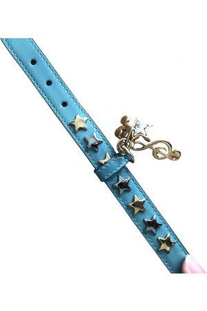 Dolce & Gabbana Turquoise Leather Bracelets