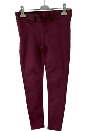 Calzedonia Burgundy Cotton Trousers