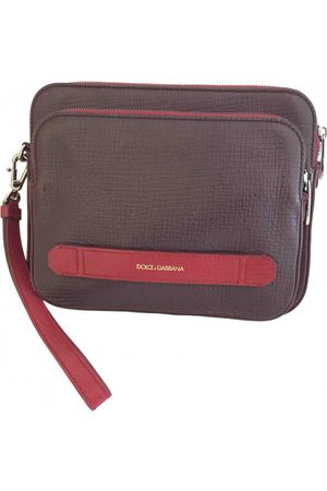Dolce & Gabbana Burgundy Leather Small Bags\, Wallets & Cases