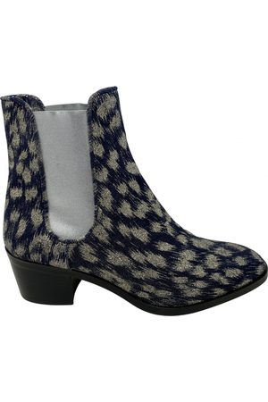 Jean-Michel Cazabat Women Ankle Boots - Navy Glitter Ankle Boots