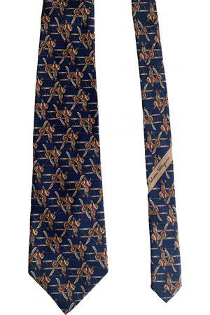 Salvatore Ferragamo Navy Silk Ties