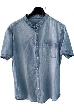 OVS Men Denim - Turquoise Denim - Jeans Shirts
