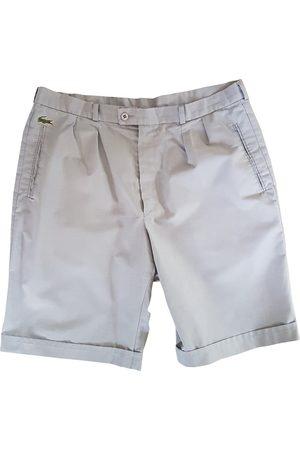 Lacoste Men Shorts - Grey Cotton Shorts