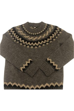 Moncler Grey Wool Knitwear & Sweatshirts