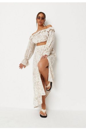 Missguided Sand Co Ord Porcelain Print Maxi Skirt