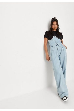 Missguided Corset Style Wide Leg Jeans