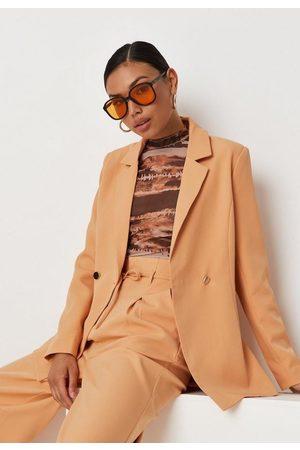 Missguided Peach Tailored Skinny Classic Blazer