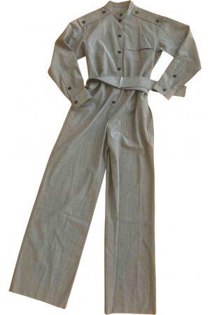 Victoria Beckham Grey Wool Jumpsuits