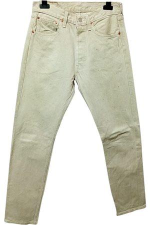 Levi's Ecru Cotton Jeans