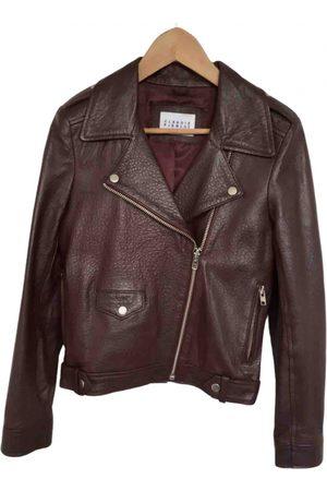 Claudie Pierlot Women Leather Jackets - Leather biker jacket