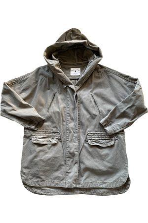 Sud Express Women Coats - Khaki Cotton Coats